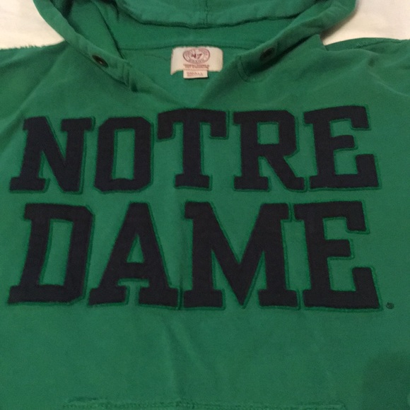 Forty Seven Brand Tops - Notre Dame University Hooded Sweatshirt in Emerald
